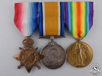 A First War Medal Trio to the North Staffordshire Regiment