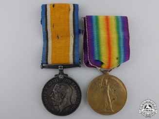 Canada. A First War Medal Pair to the Machine Gun Brigade