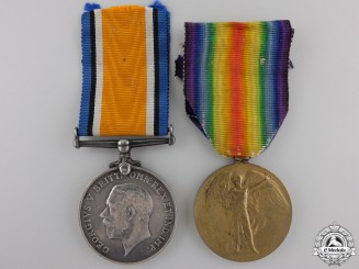 Canada, CEF. A First War Medal Pair to the 20th Canadian Infantry