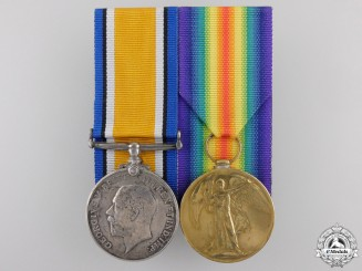 A First War Medal Pair to the 2nd Battalion; KIA on Ypres Salient