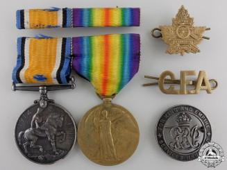 A First War Medal Pair to the Canadian Field Artillery