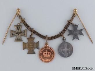 A First War Miniature Group of Five
