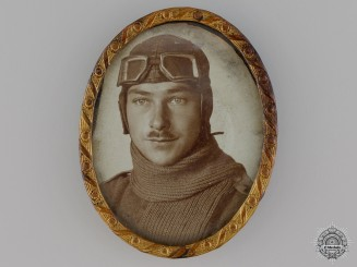 A First War Period Framed Photo of German Flyer