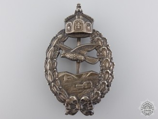 A First War Prussian Pilot's Commemorative Badge by Meybauer, Berlin