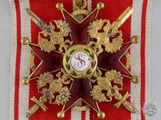 A First War Russian Order of St. Stanislaus; 2nd Class by Eduard