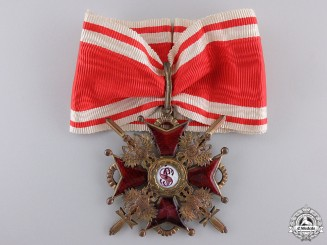 A First War Russian Order of St. Stanislaus; Commander