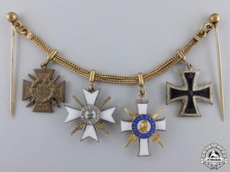 A First War Saxon Miniature Grouping
