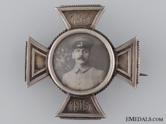 A First War Silver German Memorial Cross 1890-1915