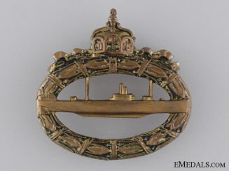 A First War Submarine Badge; Unmarked