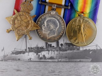 A First War Submarine Medal Bar to H.M.S. R 3