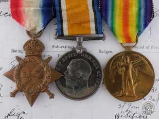 A First War Trio to Warrant Telegraphist Arthur W. Watson; Royal Navy