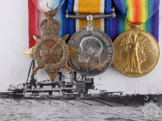 United Kingdom. A First War Trio to Lieutenant Frederick Medway