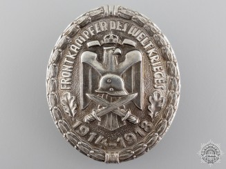 A First War Veteran's Front Fighter Badge