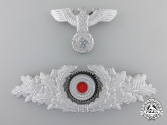 Germany. A Forestry Officer's Visor Wreath and Eagle
