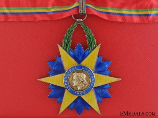 Gabon, French Protectorate. An Order of the Equatorial Star, Commander, by Arthus Bertrand