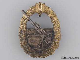 A French Made Second War German Naval Coastal Artillery Badge