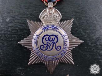 A George V Imperial Service Medal to Richard Jones