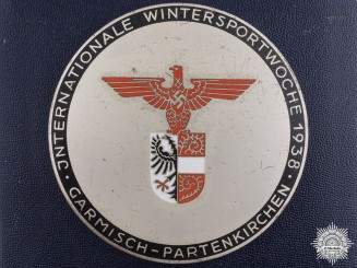 A German 1938 Ice Hockey Winner Award