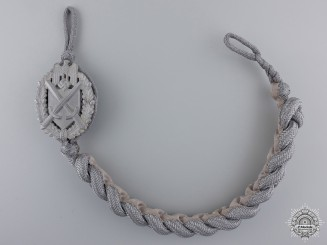 A German Army Shooting Lanyard; Grade I
