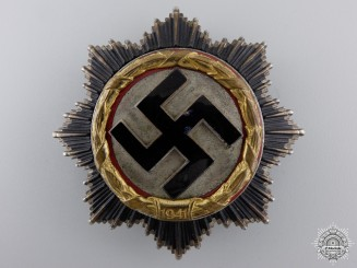 A German Cross in Gold by Gebrüder Godet & Co; Heavy Version