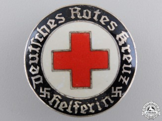 A German DRK Helper's Service Badge