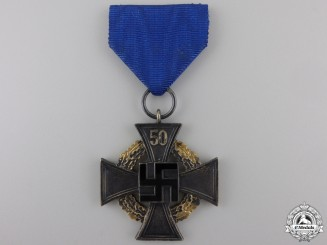 A German Faithful Service Cross; First Class