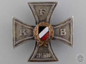 A German First War Veteran's Organization Cross 1914-18