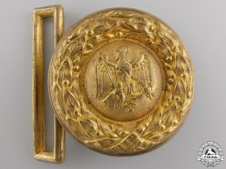 A German High Justice Official Belt Buckle; Type I