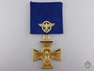 A German Police Long Service Award; First Class