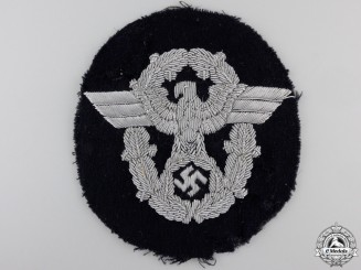 A German Police Officers Sleeve Eagle for Panzer Wrapper