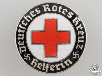 A German Red Cross (DRK) Helper's Broach by Hermann Aurich