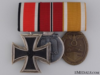 A German Second War Iron Cross Medal Bar