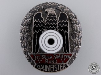 A German Shooting Federation (DSB) Gau Championship Badge