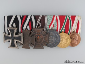 A German Six Piece Medal Bar