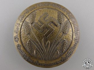 A German Women's Labor Service Rank Brooch; Named