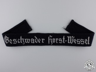A Geschwader Horst Wessel Cufftitle; Officers Version