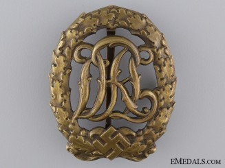 A Bronze Grade DRL Sport Badge; Third Model