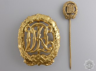 A Gold Grade DRL Sport Badge by Wernstein Jena