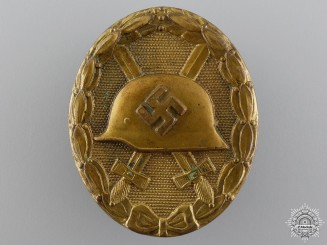 A Gold Grade Wound Badge; Unmarked