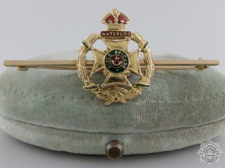 A Gold Rifle Brigade Pin