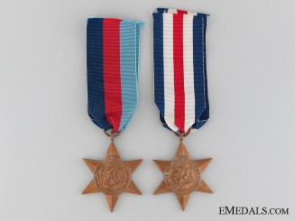 A Great Britain WWII Star Pair