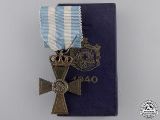 Greece, Kingdom. A Cross of Valour, II Class Silver Grade Cross, 1940