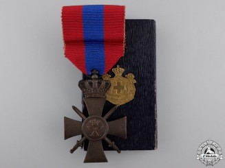 A Greek War Cross 1940; 3rd Class with Box