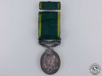 A GV Efficiency Medal to the Royal Canadian Artillery