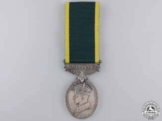 A GVI Efficency Medal with Militia Bar to the Royal Engineers