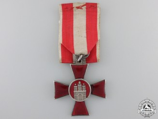 A Hamburg Hanseaten Cross; Named & Dated 1917