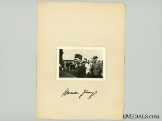 A Hermann Göring Signature