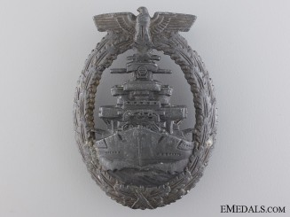 A Kriegsmarine High Seas Fleet Badge by Friedrich Orth