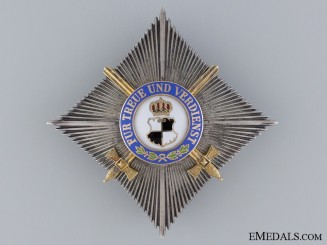 A House Order of Hohenzollern with Swords; 2nd Class Breast Star