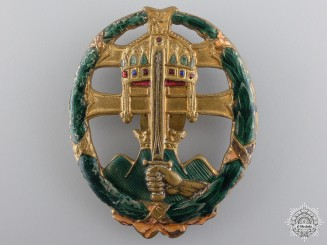 A Hungarian Officers Army Badge for Combat Service